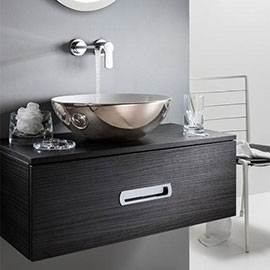 Crosswater Castellon Plus Platinum Countertop Basin - 430 x 430mm