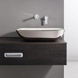 Bauhaus - Serene Platinum Countertop Basin - 580 x 350mm