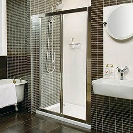Roman Collage Bi-Fold Shower Door Medium Image