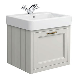 Chatsworth Traditional Grey 560mm Wall Hung Vanity