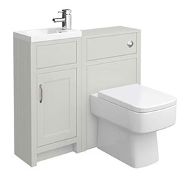 Chatsworth Traditional Grey Cloakroom Suite Medium Image