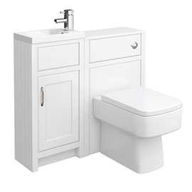 Chatsworth Traditional White Cloakroom Suite
