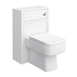 Chatsworth 500mm Traditional White Toilet Unit Only