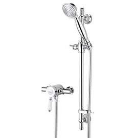 Bristan Colonial2 Thermostatic Surface Mounted Shower Valve + Adjustable Riser