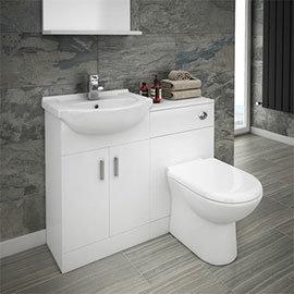 Cove Vanity Unit Cloakroom Suite + Basin Mixer Tap (W1050 x D300mm)