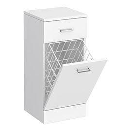 Cove 350x330mm White Laundry Basket