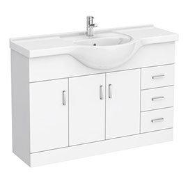 Cove White 1200mm Large Vanity Unit