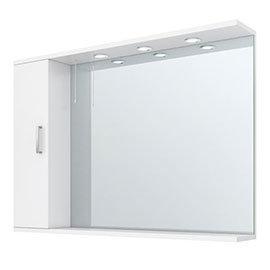 Cove White Illuminated Mirror Cabinet (1050mm Wide)