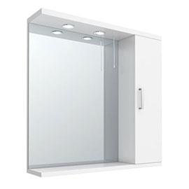 Cove White Illuminated Mirror Cabinet (750mm Wide)