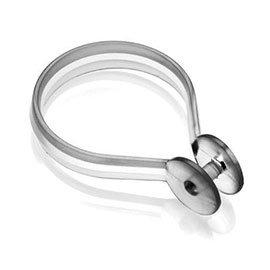 Croydex Clear Button Shower Curtain Rings - AK142232