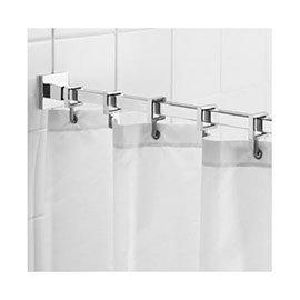 Croydex Contemporary Luxury Chrome Square Shower Curtain Rod - AD116441