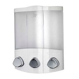 Croydex Euro Soap Dispenser Trio - White - PA660722