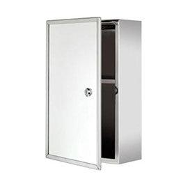 Croydex Trent Lockable Medicine Cabinet - Stainless Steel - WC846005