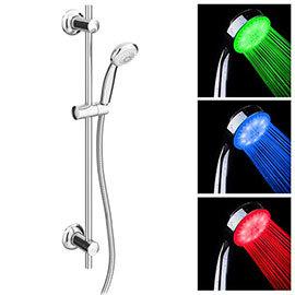 Cruze Round Slider Rail Kit + LED Shower Handset