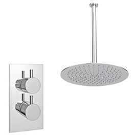 Cruze Twin Concealed Shower Valve inc. Ultra Thin Head + Vertical Arm