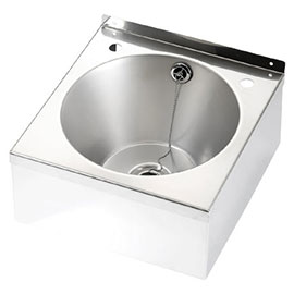Franke Model B D20162N Stainless Steel Washbasin with Apron Support, Waste & Overflow Kit