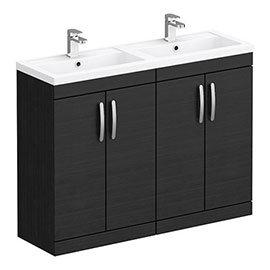 Brooklyn 1205mm Black Double Basin Vanity Unit