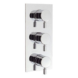 Crosswater - Design Triple Concealed Thermostatic Shower Valve - DE2000RC