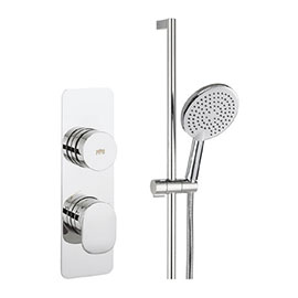 Crosswater Dial Pier 1 Control Shower Valve with Pier Shower Kit