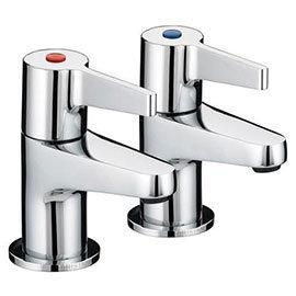 Bristan - Design Utility Lever 3/4 Bath Taps - Chrome - DUL-3/4-C