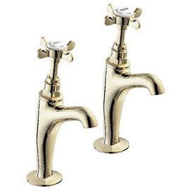 "Deva Coronation 1/2"" BS1010 High Neck Sink Taps - Gold"