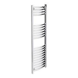 Diamond Curved Heated Towel Rail - W300 x H1200mm - Chrome