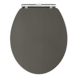 Old London Carlton Charcoal Wooden Soft Close Toilet Seat