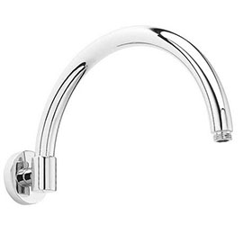 Downton Abbey Chrome Wall Mounted Curved Shower Arm