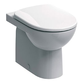 Twyford E100 Round Back to Wall WC + Soft Close Seat