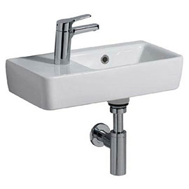 Twyford E200 Compact Washbasin (500 x 250mm - Left Hand Tap Hole)