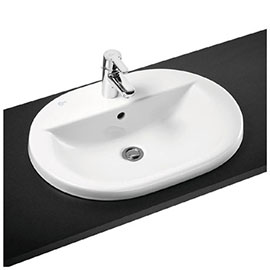 Ideal Standard Concept Oval 1TH Inset Countertop Basin