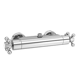 Chatsworth Traditional Crosshead Top Outlet Thermostatic Bar Shower Valve