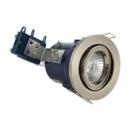 Forum Electralite Adjustable Satin Chrome Fire Rated Downlight - ELA-27466-SCHR