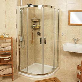 Roman Embrace Twin Door Offset Quadrant Shower Enclosure - Various Size Options Medium Image