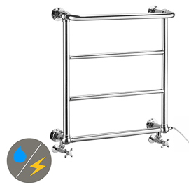Maine 642 x 720mm Traditional Towel Rail (Inc. Valves + Electric Heating Kit)