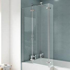 Ella 1400 Square Hinged Bath Screen - ERSBS0