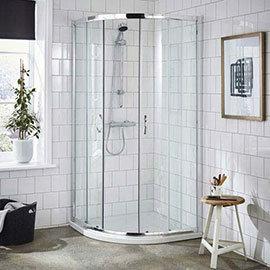 Ella Quadrant Shower Enclosure + Pearlstone Tray (900 x 900mm)