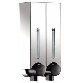 Euroshowers Mini Chic Double Soap Dispenser - Chrome - 89850