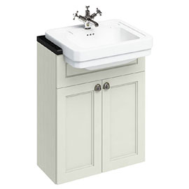 Burlington 60 2-Door Vanity Unit & Classic Semi-Recessed Basin - Sand
