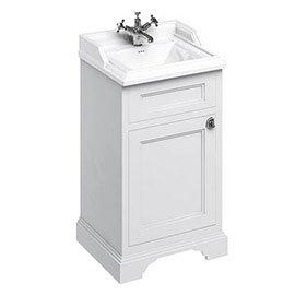 Burlington 50cm Freestanding Cloakroom Vanity Unit & Basin - Matt White