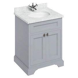 Burlington 65 2-Door Vanity Unit & Minerva Worktop with Basin - Classic Grey