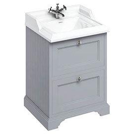 Burlington 65 2-Drawer Vanity Unit & Classic Basin - Classic Grey