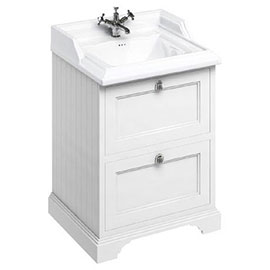 Burlington 65 2-Drawer Vanity Unit & Classic Basin - Matt White