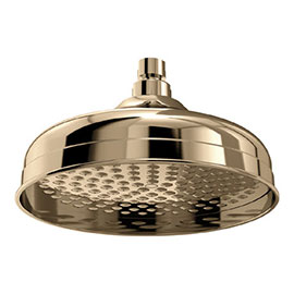 Bristan 200mm Traditional Round Fixed Head - Gold - FH-TDRD02-G