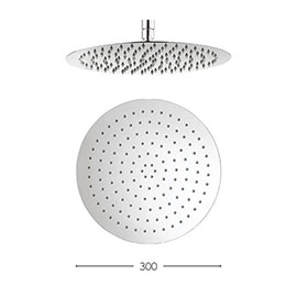 Crosswater - Central 300mm Round Fixed Showerhead - FH300SR+