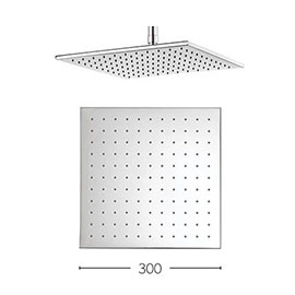 Crosswater - Zion 300mm Square Fixed Showerhead - FH330C