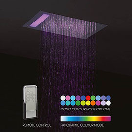 Crosswater Mini Revive LED Fixed Showerhead - FHX310C