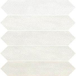 Finesse Gloss White Elongated Hexagon Wall Tiles - 65 x 330mm