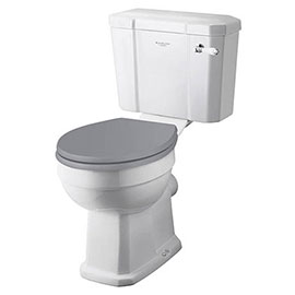 Bayswater Fitzroy Comfort Height Traditional Close Coupled Toilet with Ceramic Lever Flush