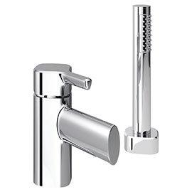 Bristan Flute 2 Hole Bath Shower Mixer with Kit